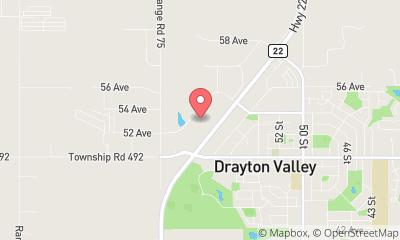map, Drayton Valley Ford Sales Ltd.